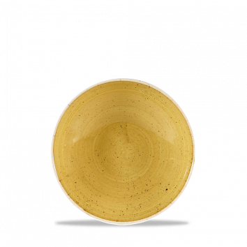 Stonecast Mustard Seed Yellow coupe bowl 18,2 cm