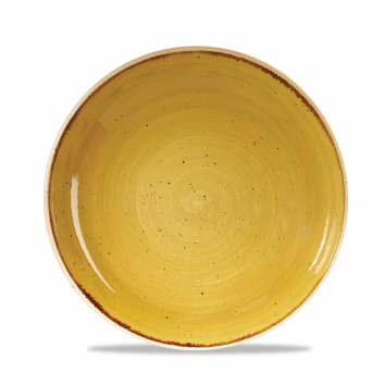 Stonecast Mustard Seed Yellow coupe bowl 24,8 cm