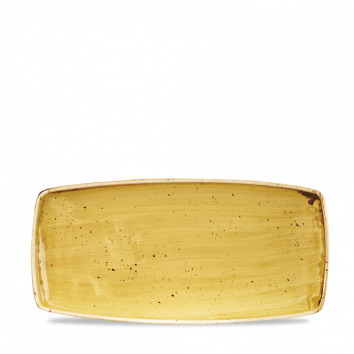 Stonecast Mustard Seed Yellow oblong plate 29,5 x 15 cm