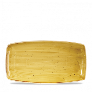 Stonecast Mustard Seed Yellow oblong plate 35 x 18,5 cm