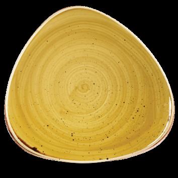 Stonecast Mustard Seed Yellow triangle bord 31,1 cm