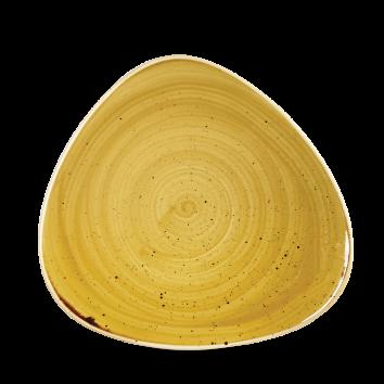 Stonecast Mustard Seed Yellow triangle bord 19,2 cm