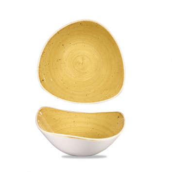Stonecast Mustard Seed Yellow triangle bowl 18,5 cm