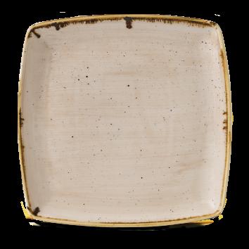 Stonecast Nutmeg Cream bord vierkant diep 26,8 cm