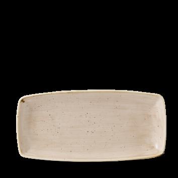 Stonecast Nutmeg Cream oblong plate 29,5 x 15 cm