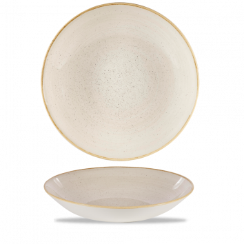 Stonecast Nutmeg Cream coupe bowl 31 cm