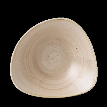 Stonecast Nutmeg Cream triangle bowl 23,5 cm
