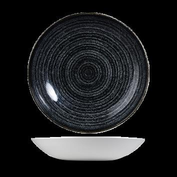 Studio Prints Charcoal Black coupe bowl 24,8 cm