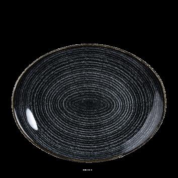Studio Prints Charcoal Black ovaal coupe bord 31,7 cm