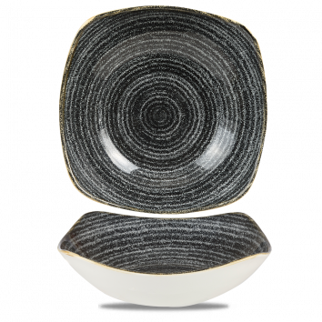 Studio Prints Charcoal Black vierkante kom 23,5 cm