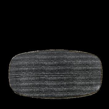Studio Prints Charcoal Black chef`s oblong plate 35,5 x 18,9 cm