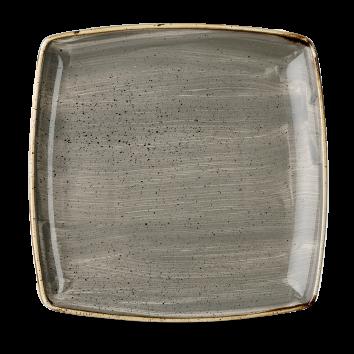 Stonecast Peppercorn Grey bord vierkant diep 26,8 cm