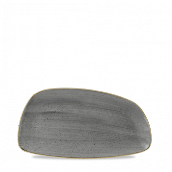 Stonecast Peppercorn Grey chef`s geo plate 30 x 15,5 cm