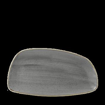 Stonecast Peppercorn Grey chef`s geo plate 35 x 18,5 cm