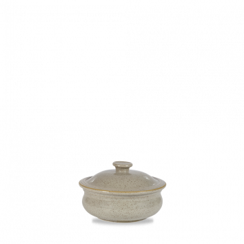 Stonecast Peppercorn Grey stew pot with lid 14 cm