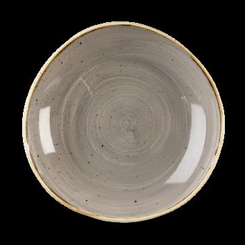 Stonecast Peppercorn Grey organic diep coupe bord 25,3 cm