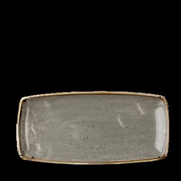 Stonecast Peppercorn Grey oblong plate 29,5 x 15 cm