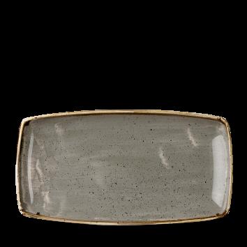 Stonecast Peppercorn Grey oblong plate 35 x 18,5 cm