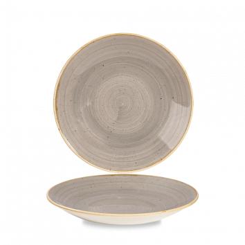 Stonecast Peppercorn Grey diep coupe bord 22,5 cm