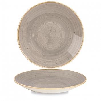 Stonecast Peppercorn Grey diep coupe bord 28,1 cm