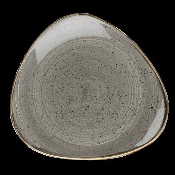 Stonecast Peppercorn Grey triangle bord 26,5 cm