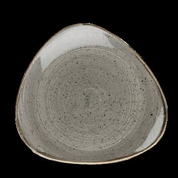 Stonecast Peppercorn Grey triangle bord 22,9 cm