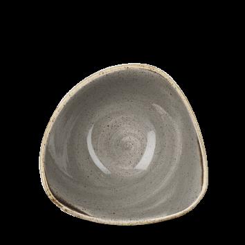 Stonecast Peppercorn Grey triangle bowl 15,3 cm