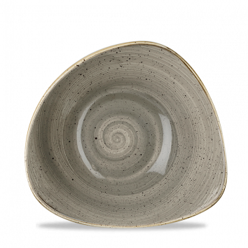 Stonecast Peppercorn Grey triangle bowl 18,5 cm