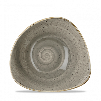 Stonecast Peppercorn Grey triangle bowl 23,5 cm