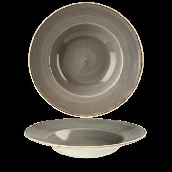 Stonecast Peppercorn Grey diep bord brede rand 28 cm