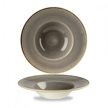 Stonecast Peppercorn Grey diep bord brede rand 24 cm