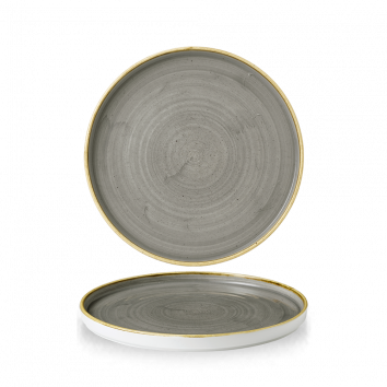 Stonecast Peppercorn Grey walled chef`s plate 21 cm