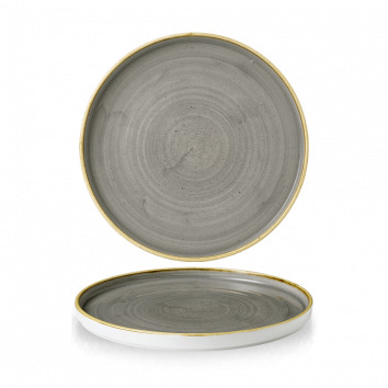 Stonecast Peppercorn Grey walled chef`s plate 26 cm