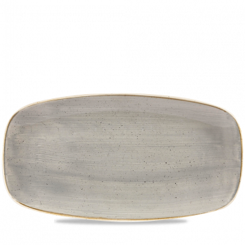 Stonecast Peppercorn Grey chef`s oblong plate 29,8 x 15,3 cm
