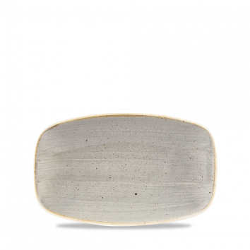 Stonecast Peppercorn Grey chef`s oblong plate 20 x 12,1 cm