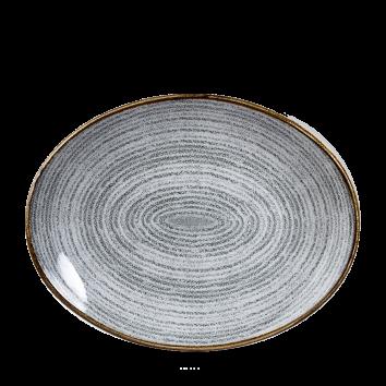Studio Prints Stone Grey ovaal coupe bord 31,7 cm