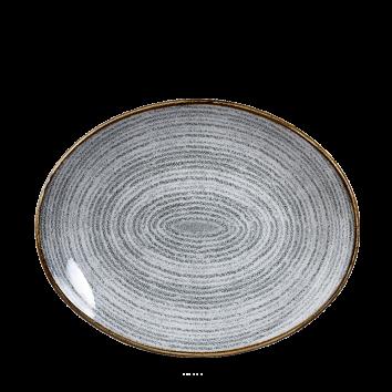 Studio Prints Stone Grey ovaal coupe bord 27 cm