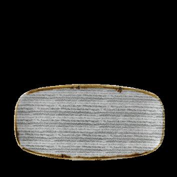 Studio Prints Stone Grey chef`s oblong plate 29,8 x 15,3 cm