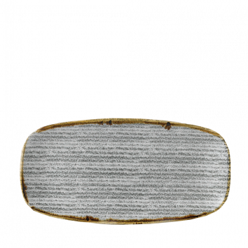Studio Prints Stone Grey chef`s oblong plate 35,5 x 18,9 cm