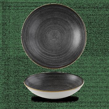 Stonecast Raw Black coupe bowl 18,2 cm