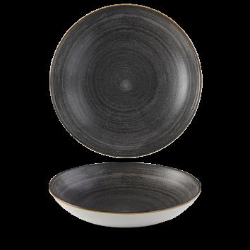 Stonecast Raw Black coupe bowl 24,8 cm