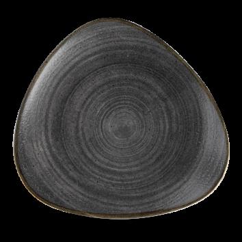 Stonecast Raw Black triangle bord 26,5 cm