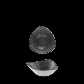 Stonecast Raw Black triangle bowl 18,5 cm