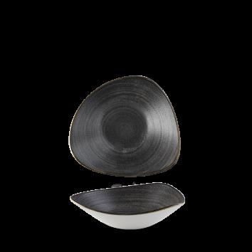 Stonecast Raw Black triangle bowl 23,5 cm