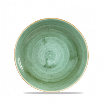 Stonecast Samphire Green coupe bowl 24,8 cm