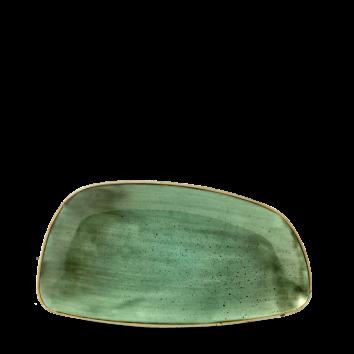 Stonecast Samphire Green chef`s geo plate 30 x 15,5 cm