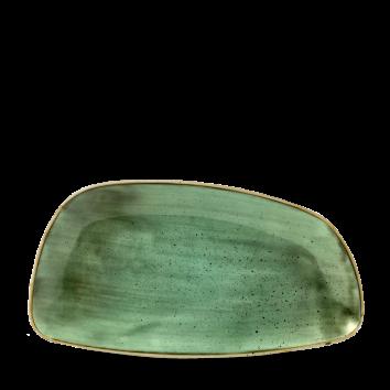 Stonecast Samphire Green chef`s geo plate 35 x 18,5 cm