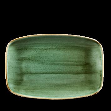 Stonecast Samphire Green chef`s oblong plate 30 x 19,9 cm