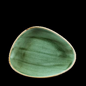 Stonecast Samphire Green chef`s triangle bord 26 cm