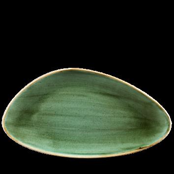 Stonecast Samphire Green chef`s triangle bord 35 cm